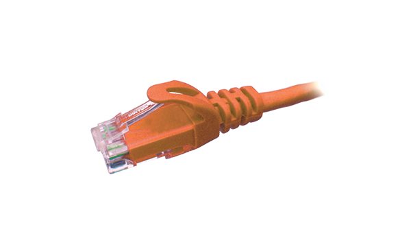 1 MTR Cat6 U/UTP Patch Cord – Orange