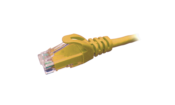 1 MTR Cat6 U/UTP Patch Cord – Yellow