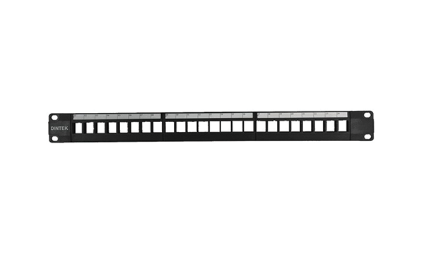1U 24 Port UTP Snap-in Patch Panel without Rear Manager