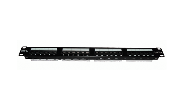 "24 Port Cat5e 19"" 1U, Component Level"