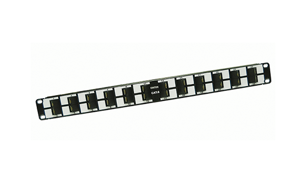 "24 Port Cat6 19"" 45 Degree Panel"