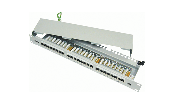 "24 Port Cat6 Shielded 19"" Patch Panel"