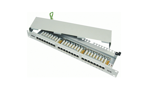 "24 Port Fully Shielded 19"" Patch Panel"