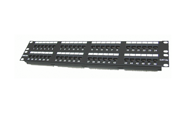 "48 Port Cat5e 19"" 2U, Component Level"