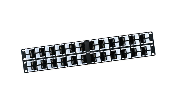 "48 Port Cat6 19"" 45 Degree Panel"
