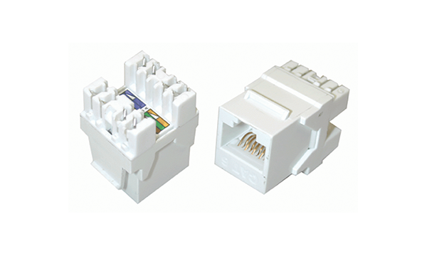 Cat6 180 Degree 110 Style RJ45 Jack