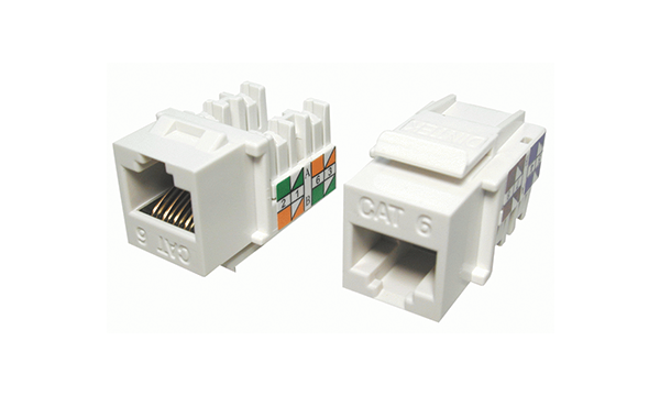 Cat6 90 Degree 110 Style RJ45 Jack