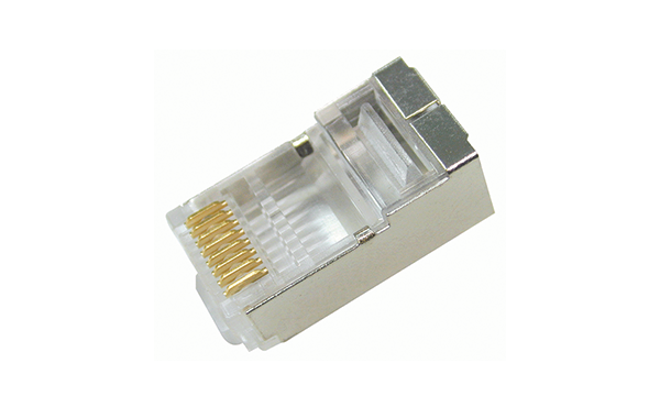 RJ-45 Cat5e Plug For Shielded Solid Wire 26-24AWG 1 Piece (3 Prong)