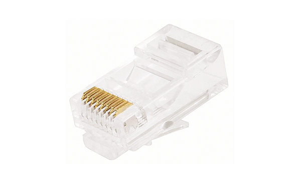 RJ-45 Cat5e Plug For Unshielded Solid Wire 26-24AWG 1 Piece (2 Prong)