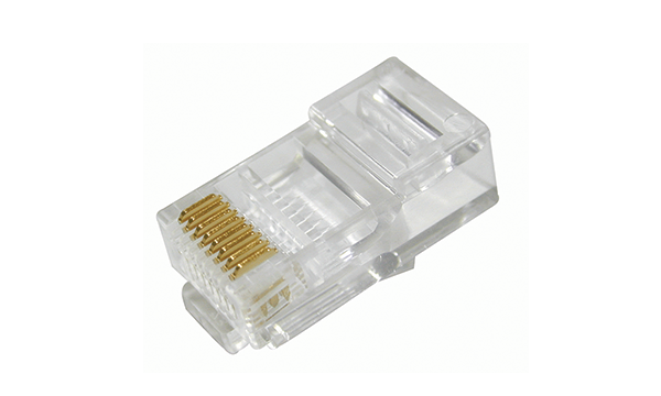 RJ-45 Cat5e Plug For Unshielded Solid Wire 26-24AWG 1 Piece (3 Prong)