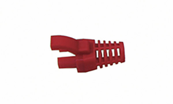 Red Strain Relief RJ-45 Boot (5.7Ø)