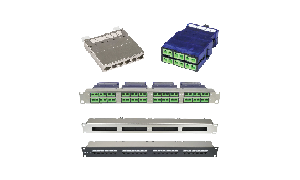 Cat6a cassette patch panels
