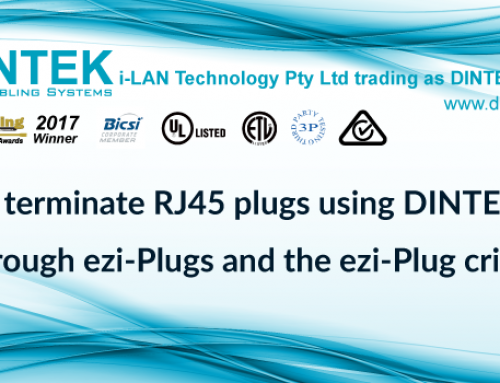How to terminate RJ45 plugs using DINTEK  pass through ezi-Plugs and the ezi-Plug crimp tool?